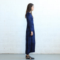 Winter Maxi dress -Dark Blue - Pop Up Fashion Sale - 5