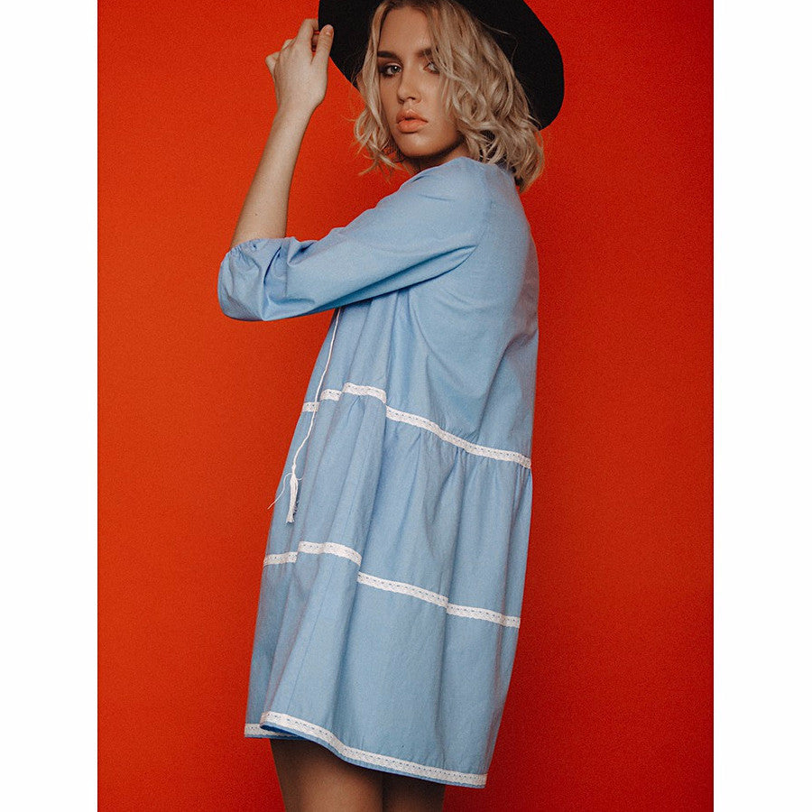 Cotton Mini Dress - Women - Apparel - Dresses - Casual