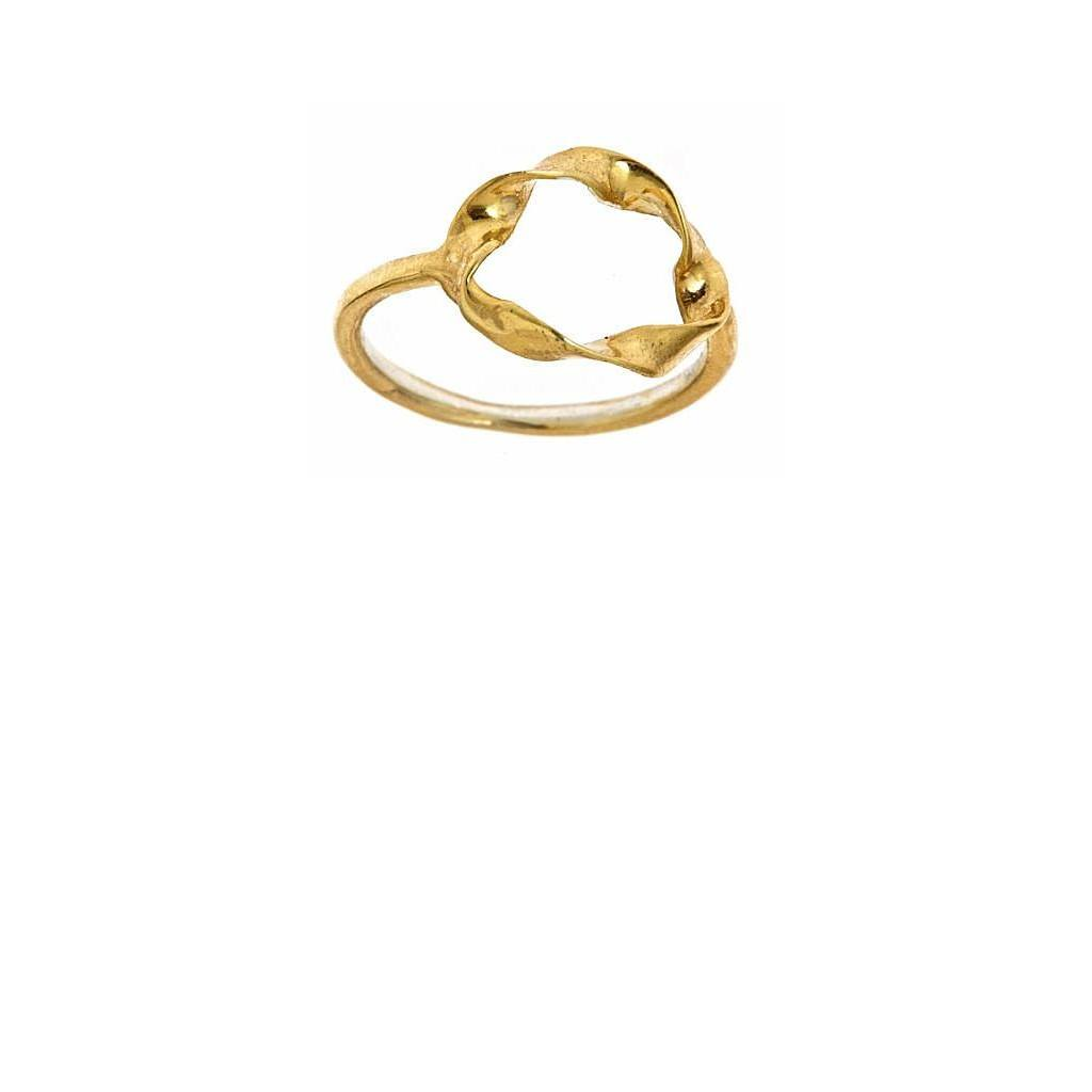 Twisted Circle Ring by Alicia Marilyn Designs - Pop Up Fashion Sale