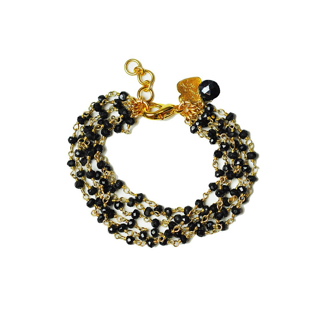 Black Spinel Bracelet - Pop Up Fashion Sale