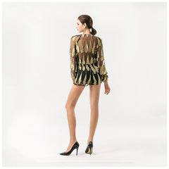 Feathered Mesh Play suit - Pop Up Fashion Sale - 3