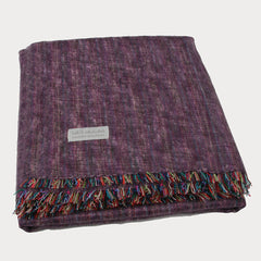 100% Alpaca Full Blanket in Heather Purple - Pop Up Fashion Sale