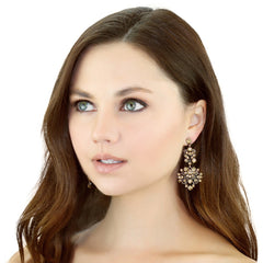 Floral Gem Earrings - Pop Up Fashion Sale - 3