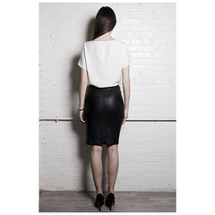 The Leather Pencil Skirt - Pop Up Fashion Sale - 2