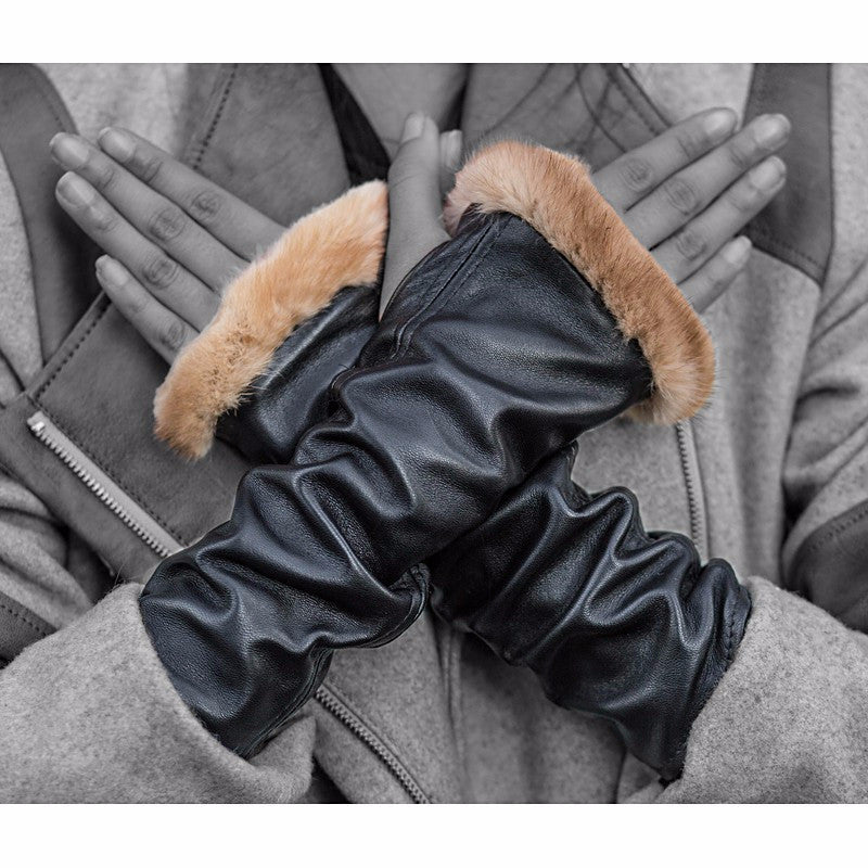 Black Knuckle Duster Gloves - Pop Up Fashion Sale