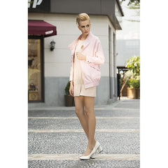 Rebel in Pink Faux suede Oversized jacket - Pop Up Fashion Sale - 2