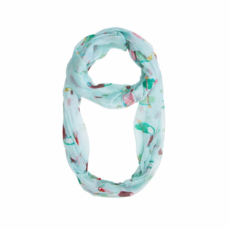 Blue Toucan Infinity Scarf - Pop Up Fashion Sale