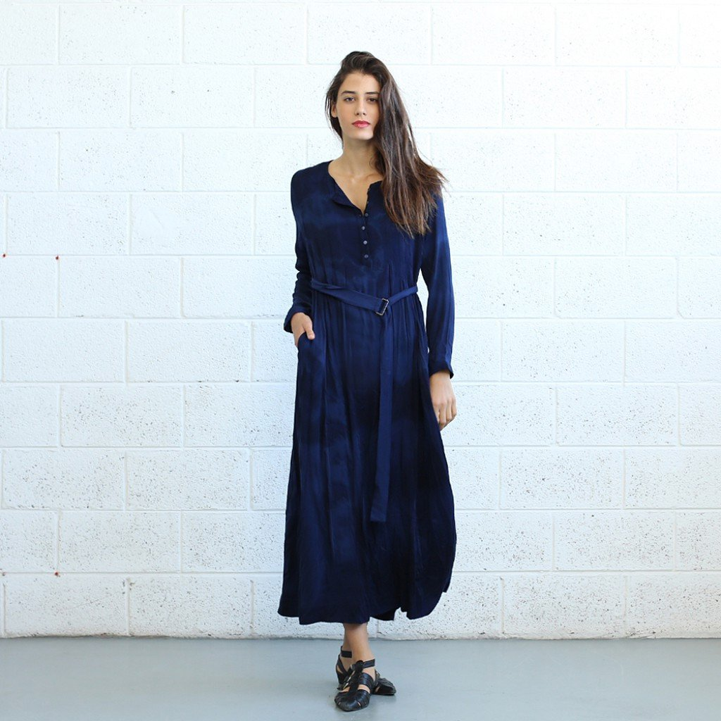 Winter Maxi dress -Dark Blue - Pop Up Fashion Sale - 1