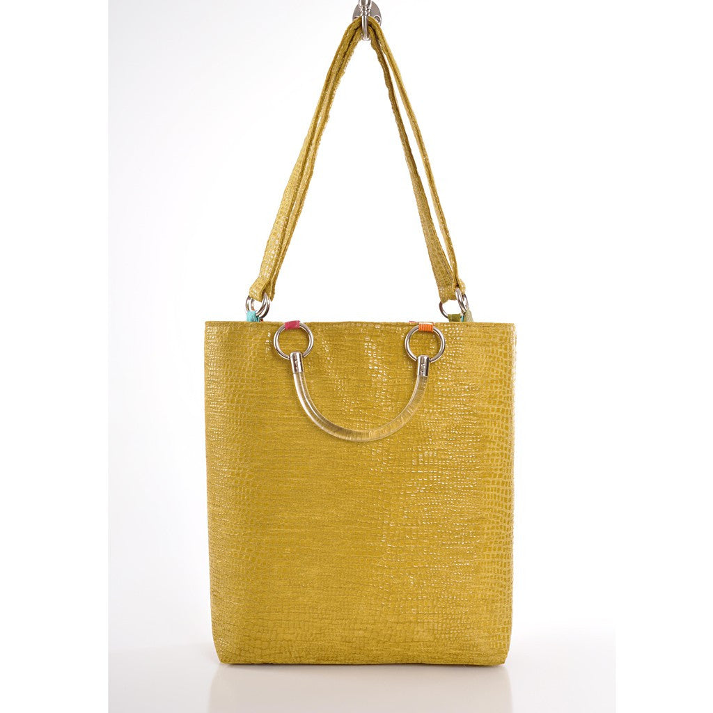 Boa Chartreuse Large Tote - Pop Up Fashion Sale