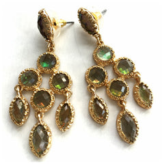 Crystal & Gold Chandelier Earrings - Pop Up Fashion Sale - 4