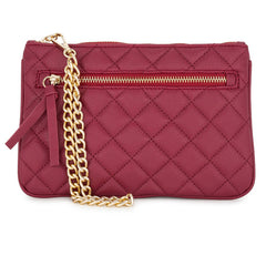 Burgundy Quilted Wristlet - Pop Up Fashion Sale - 1