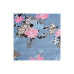 Blue & Pink Flower Infinity Scarf - Pop Up Fashion Sale