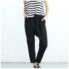 Drop Crotch Pants- Black. - Pop Up Fashion Sale - 3