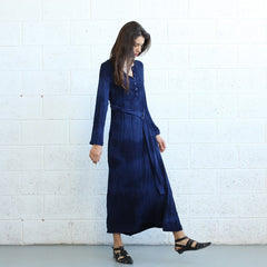 Winter Maxi dress -Dark Blue - Pop Up Fashion Sale - 6