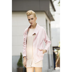 Rebel in Pink Faux suede Oversized jacket - Pop Up Fashion Sale - 1