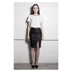 The Leather Pencil Skirt - Pop Up Fashion Sale - 1