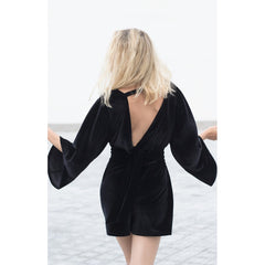 Bareback velvet jumpsuit - Pop Up Fashion Sale - 3