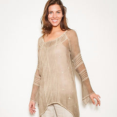 Dupont Taupe Sequences - Women - Apparel - Shirts - Tunics