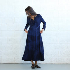 Winter Maxi dress -Dark Blue - Pop Up Fashion Sale - 3