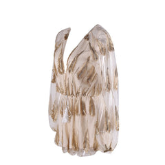 Feathered Mesh Play suit - Pop Up Fashion Sale - 6