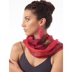 Ethereal Mixed Silk Infinity Scarf: Pinkberry - Women - Accessories - Scarves