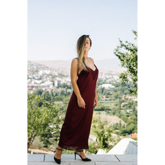 Burgundy Silk dress