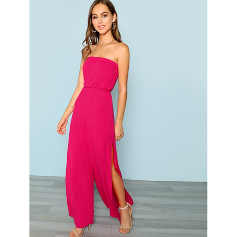 Split Side Tube Jumpsuit