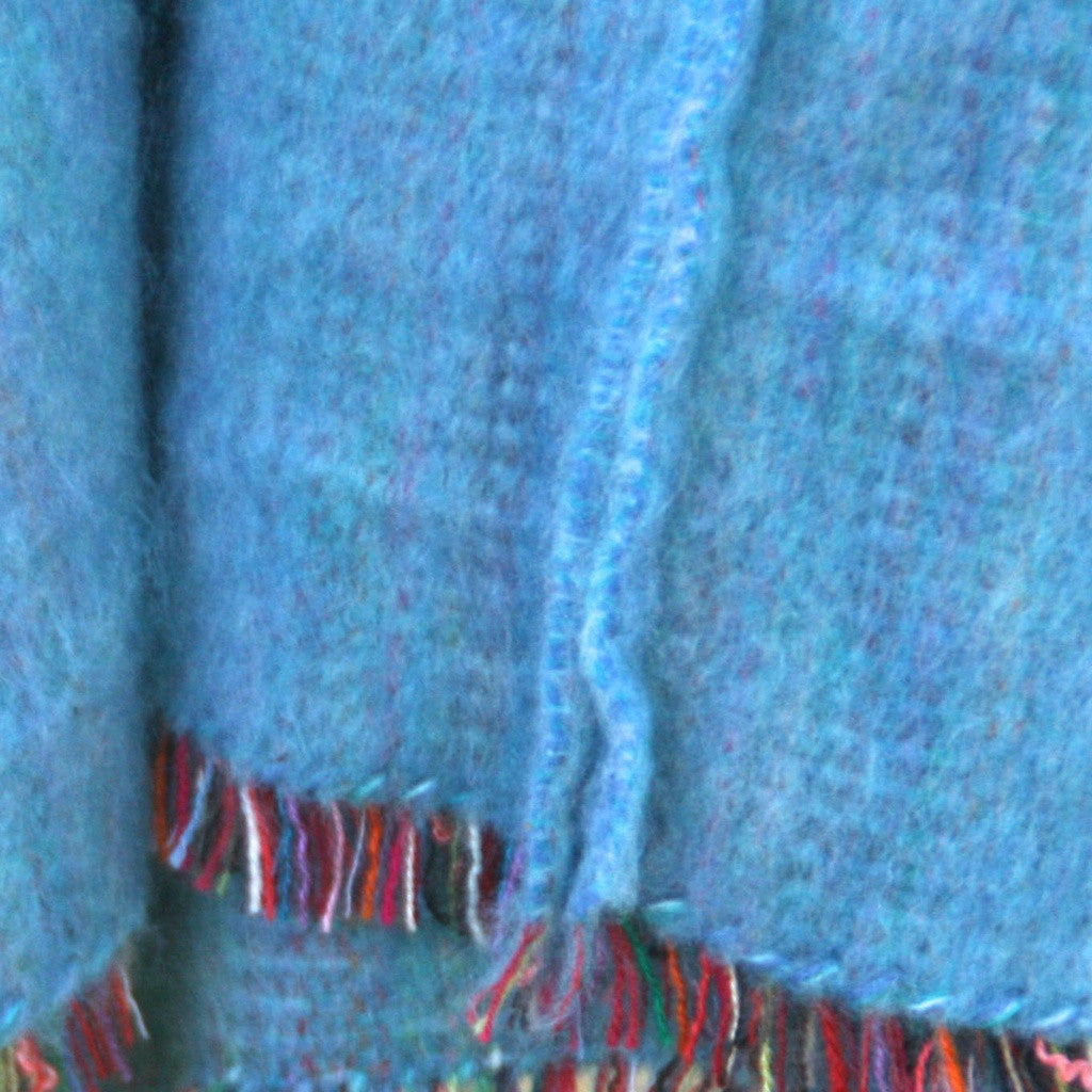 100% Alpaca Poncho in Turquoise