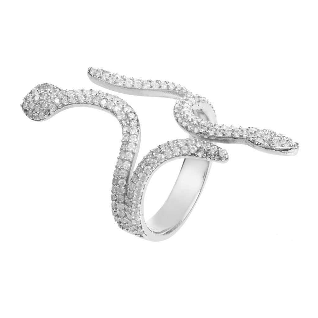 Cleopatra Snake Ring Silver - Pop Up Fashion Sale