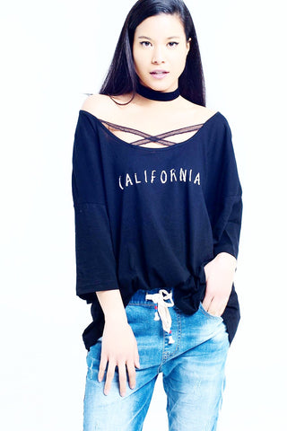 Black t-shirt with California logo
