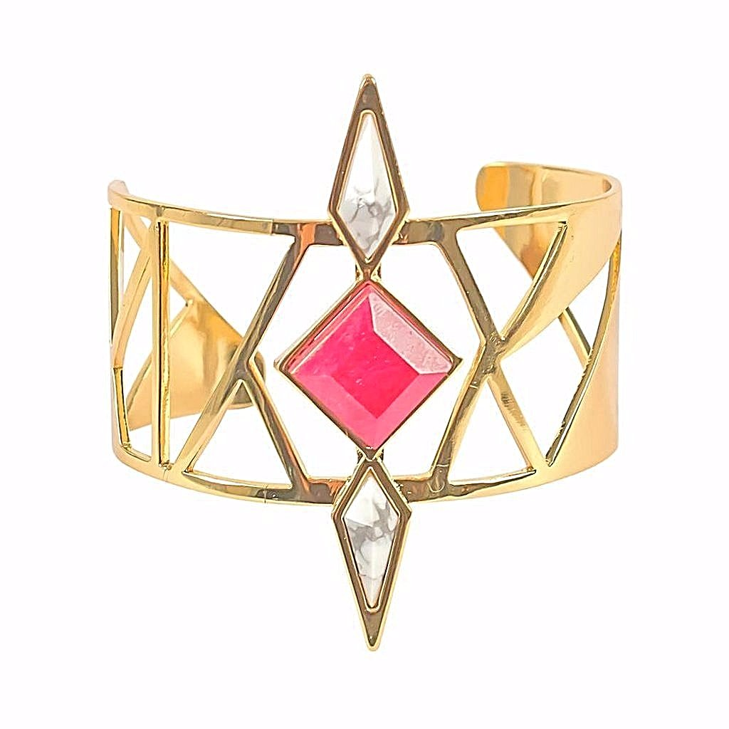 Combo Howlite & Ruby Cuff - Pop Up Fashion Sale