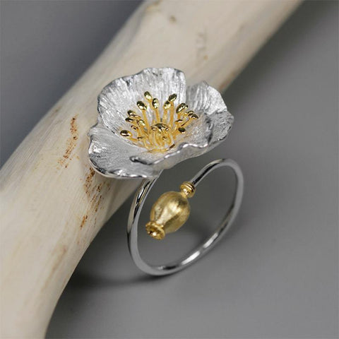 Effloresced Sterling Silver Ring