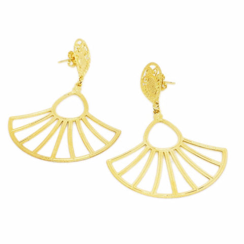Drop Fan Earrings