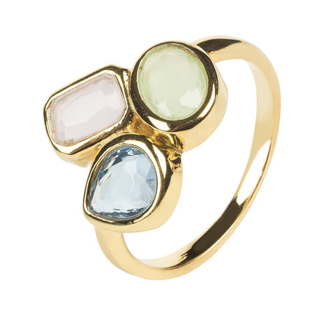Venice Multi Gemstone Ring Gold