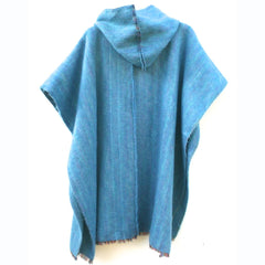 100% Alpaca Poncho in Turquoise - Pop Up Fashion Sale