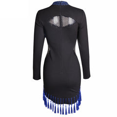 Blue Tassel Fringe Dress - Women - Apparel - Dresses - Evening