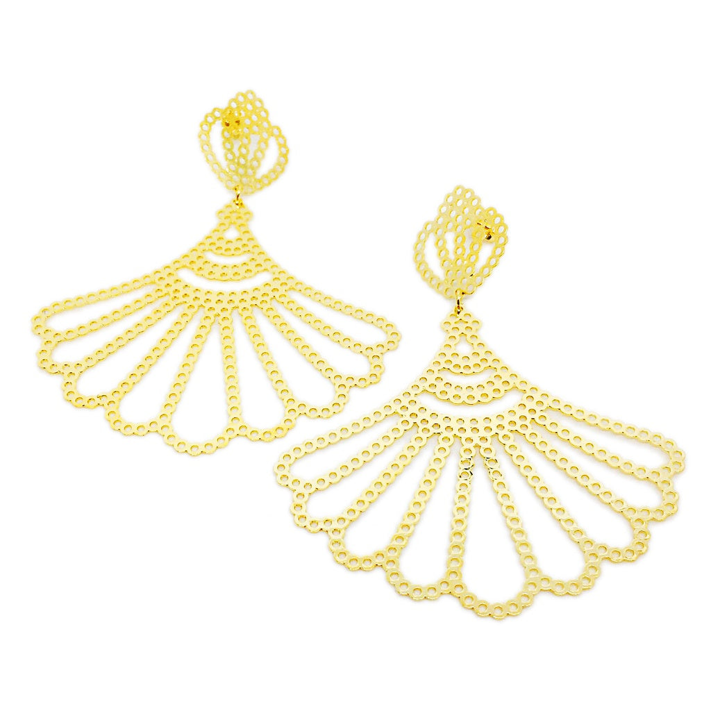 Fanned Drops Earrings - Women - Jewelry - Earrings