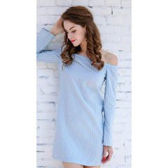 Blue Casual Day to Night Dress