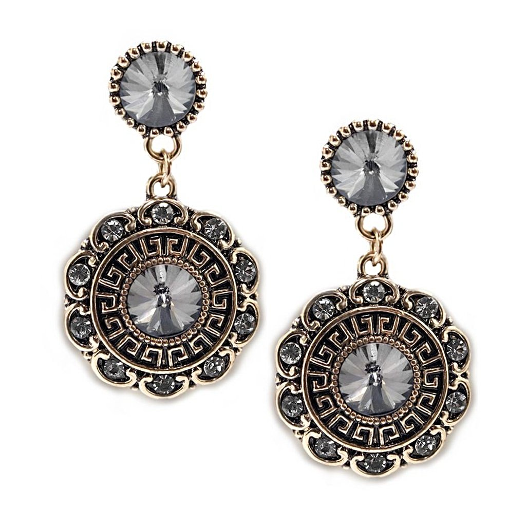 Bloom Earrings-Charcoal - Pop Up Fashion Sale
