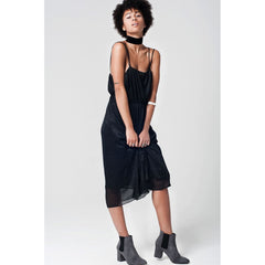 Black Midi Dress With Cami Strap - Women - Apparel - Dresses - Day To Night