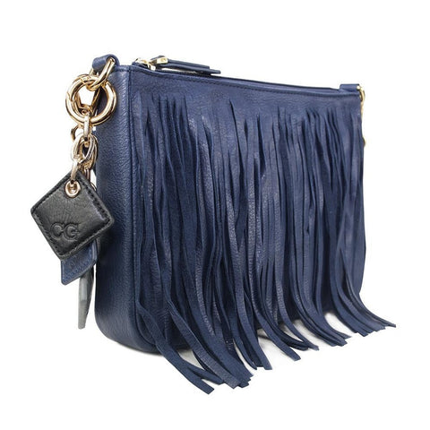 Willow Leather Handbag -Sapphire