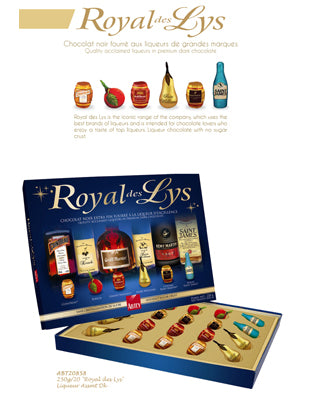 Abtey Royal Des Lys French Liquor Chocolate Assortment Box 250g