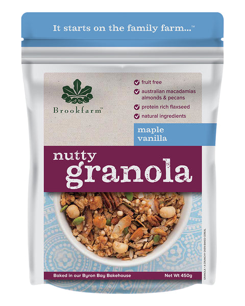 Brookfarm Maple & Vanilla Nutty Granola 450g