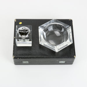 Antique Crystal Lighter Set