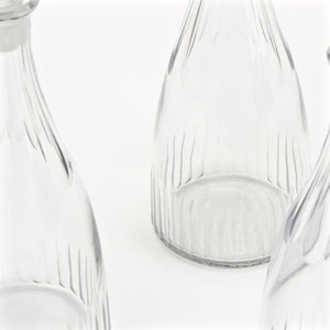 Early 1900's cut glass decanter set closeup 2