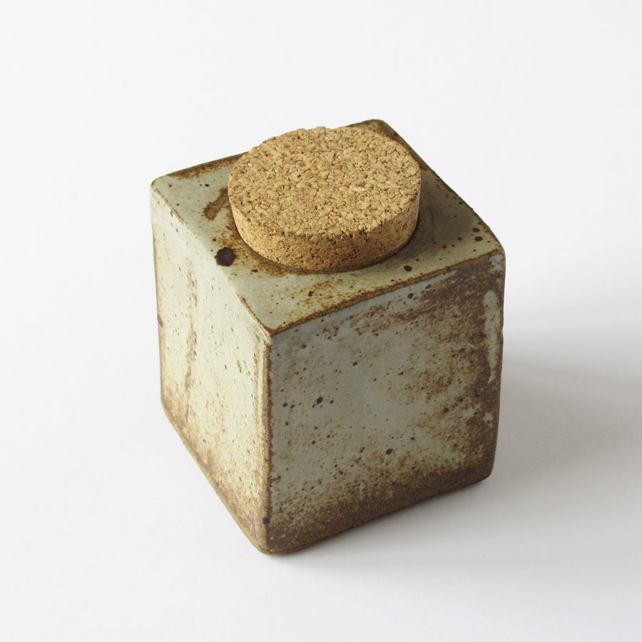Artisan tea and spice container with cork