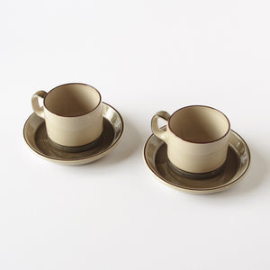 Set of 2 Bing & Grøndahl tea cups and saucers