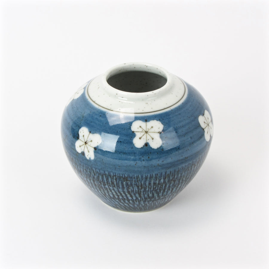 Blue Otagiri vase with floral design main image