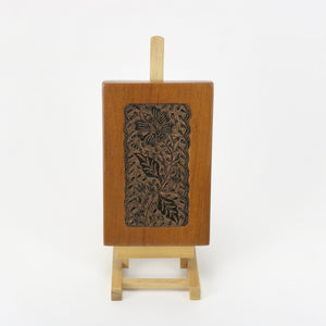Flower and bee copper tjap Batik Stamp