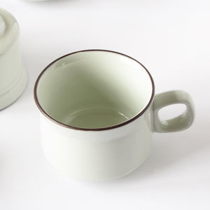 Denby replacement coffee and tea cups closeup view